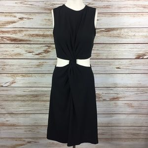 Zara Twist Front Sleeveless Cut Out Dress